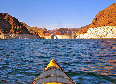 """Hoover Dam Kayaking""  ""Life is either a great adventure or nothing.""~ Helen Keller~"
