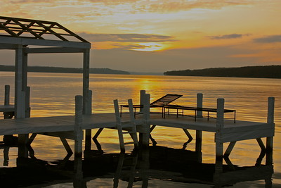 """Sunset on the dock""   ""How strange this fear of death is! We are never frightened at a sunset."" ~ George MacDonald~"